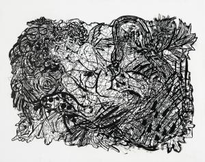 Scherenschnitt einer Gegenwartskünstlerin - Zipora Rafaelov: Neshika (Bildrechte: VG Bild-Kunst)